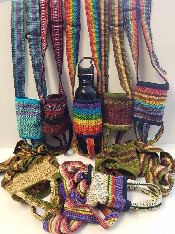 Cotton Drink Bottle Sling - Assorted colours